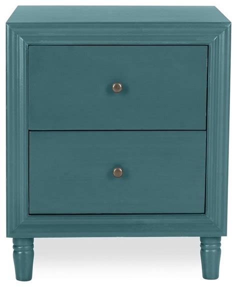 Teal Nightstand by Tilly Nightstand Teal Contemporary Nightstands