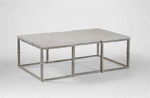coffee table grey wood rectangular brushed silver alden With brushed silver coffee table