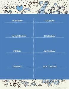Free Weekly Planner Pages Weekly Calendar Maker Create Free Custom Calendars