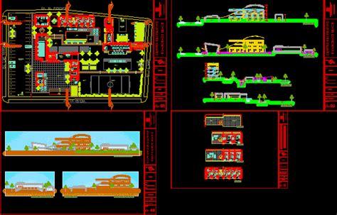 multifunctional resort  dwg design full project
