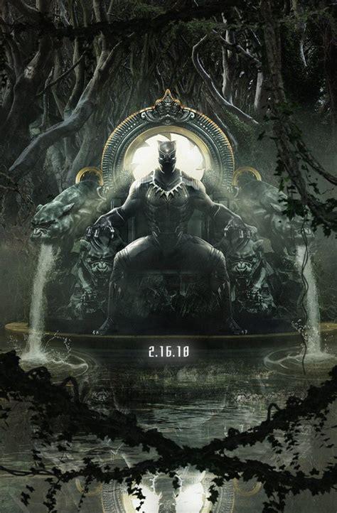 black panther il poster corretto  pantera nera sul trono