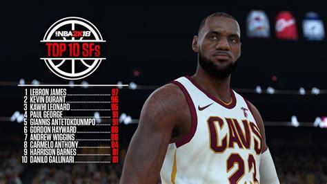 Ratings Small Forward NBA 2K18