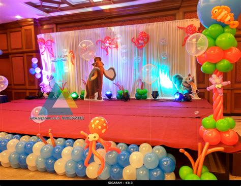 themed birthday party decoration  hotel shenbaga