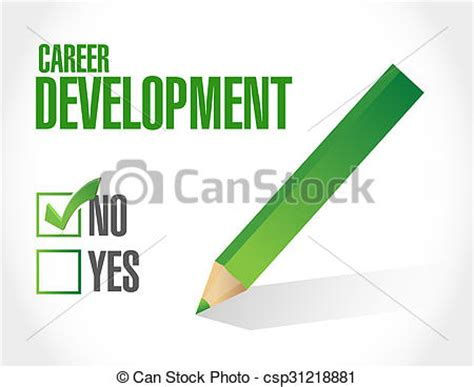 12862 career development clipart stock illustration of no career development sign concept
