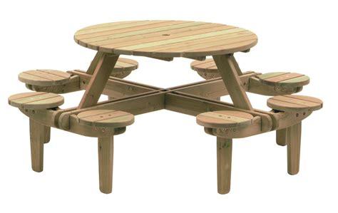 pine gleneagles 8 seater picnic table 1 1m