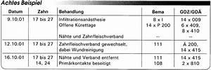 Goz Zahnarzt Abrechnung : abrechnung nach bema und goz parodontaltherapeutische leistungen eine gegen berstellung ~ Themetempest.com Abrechnung