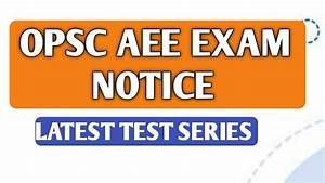 Opsc Aee Electrical Exam Notice I Test Series I
