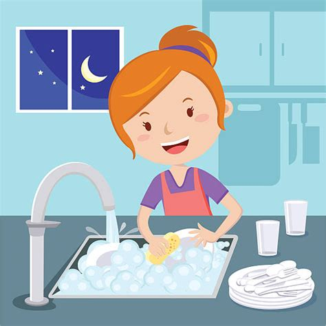 Washing Dishes Clipart Washing Dishes Clip Vector Images Illustrations