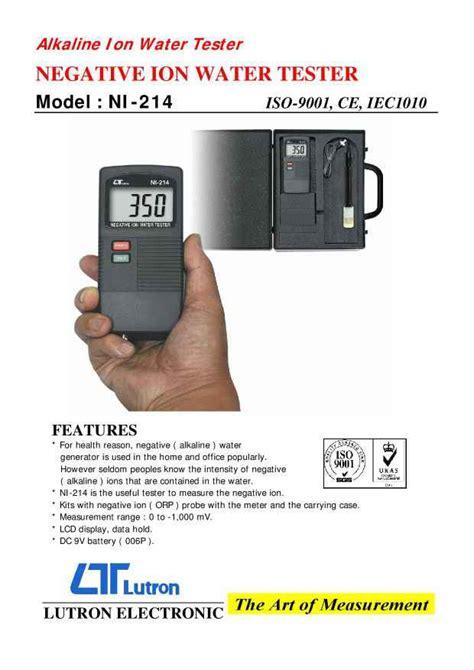 spesifikasi tinggi orp meter lutron ni 214 conductivitymeter net harga ultraviolet water