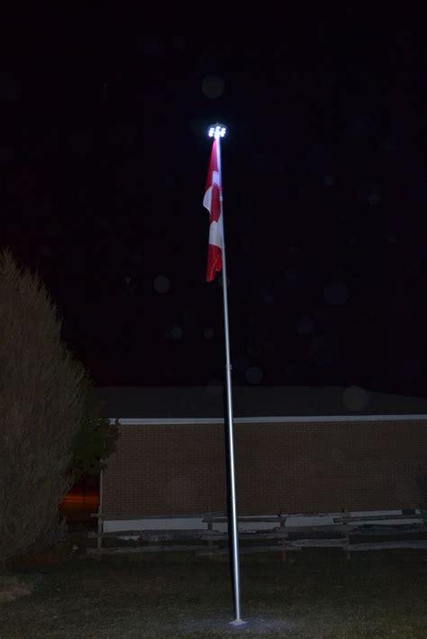telescoping flagpole with solar light ontario flag pole march 2012