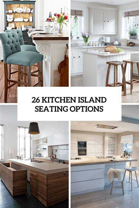 20 kitchen island with seating 26 modern and smart kitchen island seating options home