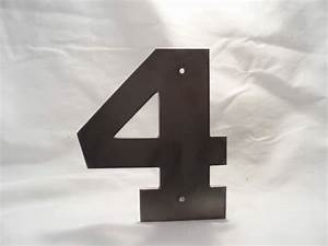 numbers 4 plasma cut 11ga hrs rockwell bold With plasma cut letters