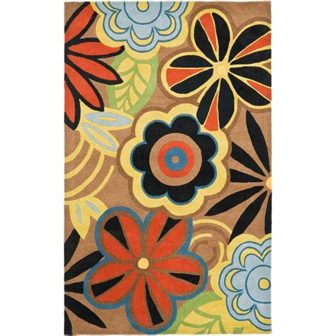 5 8 Area Rugs by Safavieh Soho Brown Multi 5 Ft X 8 Ft Area Rug Soh743b 5