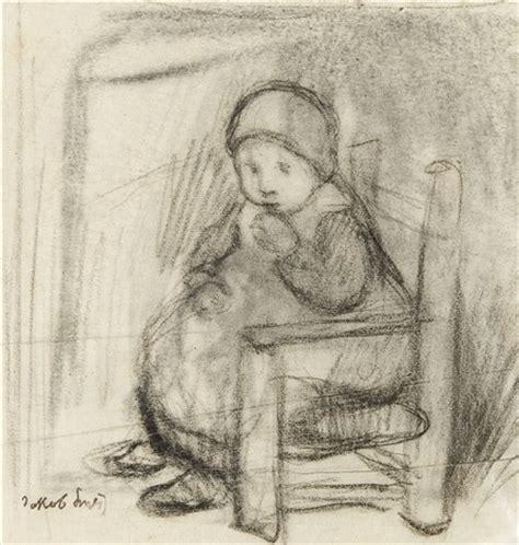 enfant dans une chaise enfant debout rectoverso 2 works