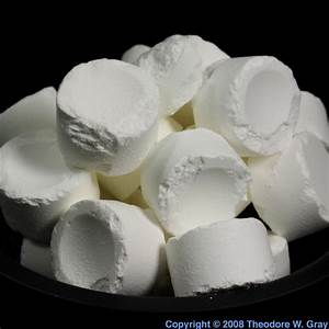 Bromine Pool Tablets  A Sample Of The Element Bromine In