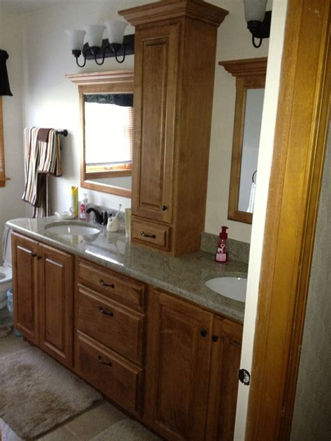kitchen tower cabinet bathroom vanities naperville with amazing minimalist in 3380