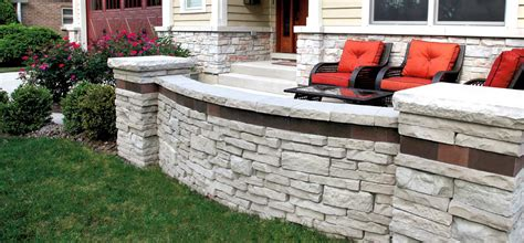 Unilock Wall Installation by Rivercrest Wall Illinois Landscape Supply