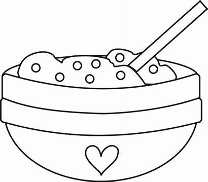 Mixing Bowl Clipart Cookie Spoon Clip Coloring