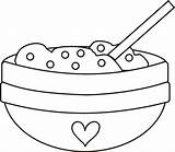 Mixing Bowl Clipart Spoon Cookie Coloring Clip Dough Cooking Fruit Pages Cliparts Drawings Sheet Library Greatest Silhouette sketch template