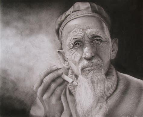 Old Man Smoking Weed