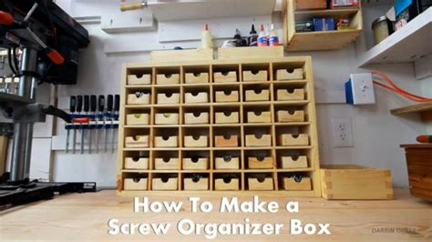 Cabinet Table Saw Used by How To Make An Organizer Box For Storing Screws