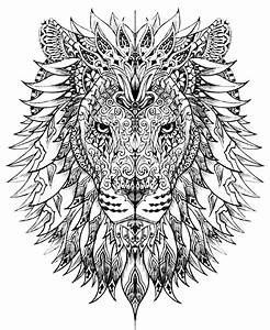 Difficult Abstract Animal Coloring Pages #0848b07b0c50 ...