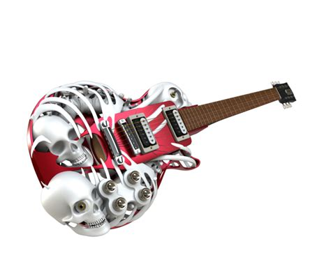 necromuse 3d printed electric guitar by customuse on deviantart