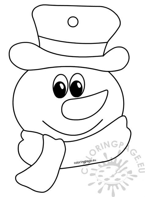 coloring book  children snowman coloring page
