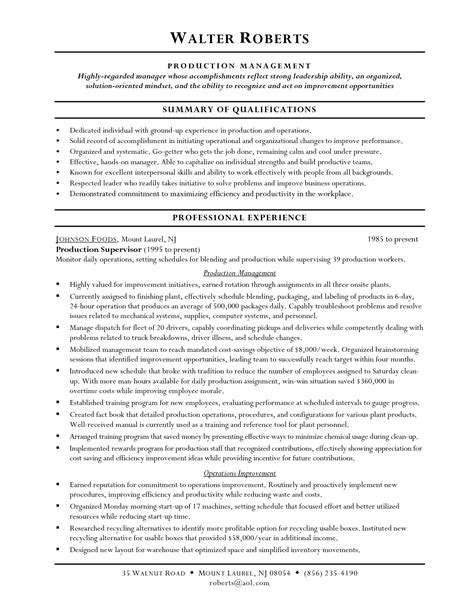 Warehouse Supervisor Resume Cover Letter Sle by Warehouse Distribution Manager Cover Letter Enriques