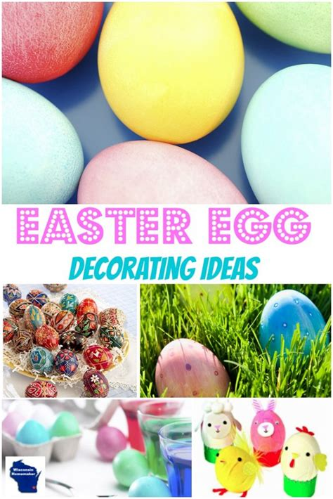 quick  easy easter egg decorating ideas wisconsin