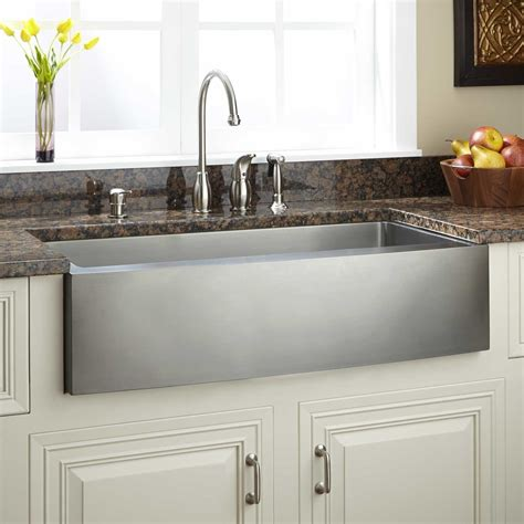 39 Optimum Stainless Steel Farmhouse Sink Curved Apron