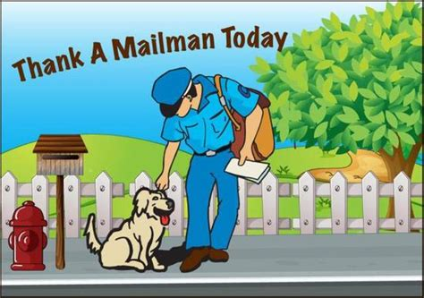 thanks mail carrier warming up national thank a mailman day national days