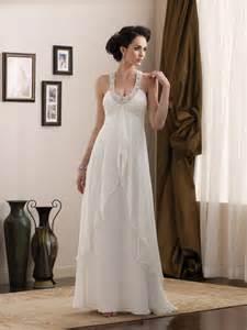 simple informal wedding dresses simple length scoop halter beaded chiffon informal wedding dress prlog