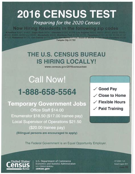 the bureau of census temporary 2016 u s census bureau empower la