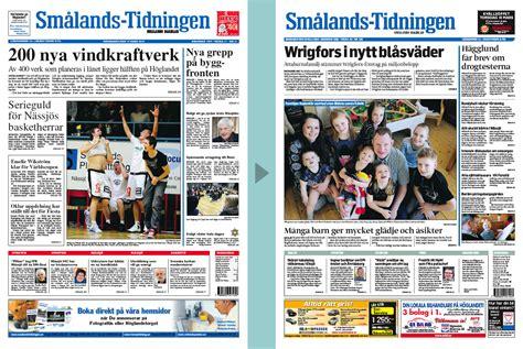 Home Design Newspaper by A New Design For Smaalands Tidningen Newspaper Design