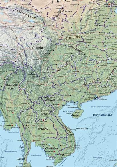 Asia Map Physical Digital Maps Continent Sample