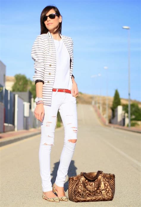 trendy ways  wear  white jeans   occasions pretty designs