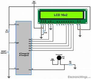 Thermistor Interfacing With Avr Atmega16  Atmega32