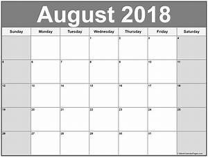 Calender August August 2018 Calendar 56 Calendar Templates Of 2018