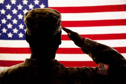 Veterans Meals Soldier Flag American Saluting Silhouette