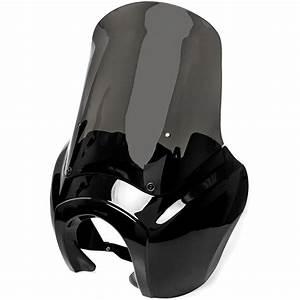Smoke Quarter Black Fairing Kit For Harley Dyna Super