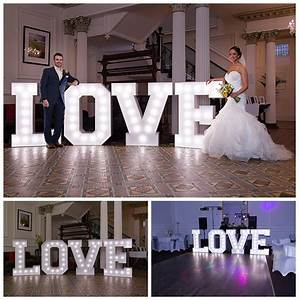 love letters wedding hire bright 4ft letters by andylids With big letters for wedding