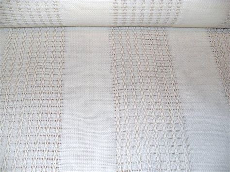 white soft brown detail open weave new drapery fabric