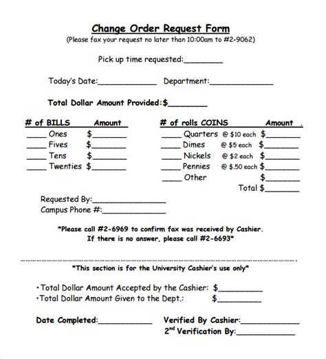 change order form template 11 change order sles sle templates