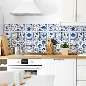 Stickers Carreaux De Ciment Cuisine : 24 stickers carreaux de ciment delft ruremonde cuisine ~ Melissatoandfro.com Idées de Décoration