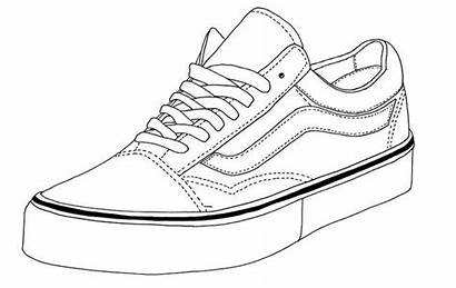 Vans Shoe Drawing Shoes Sketch Coloring Pages