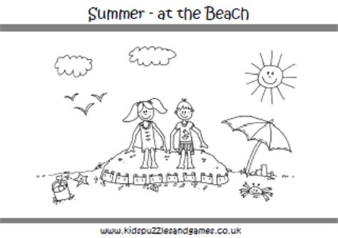 summer colouring sheets kids puzzles  games