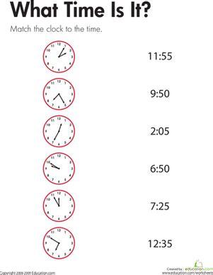 telling time what time is it worksheet education