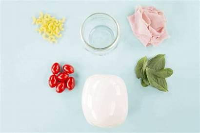 Pasta Salad Ham Mozzarella Tomato Mason Spoonuniversity