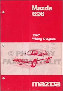 1987 Mazda 626 Repair Shop Manual Original